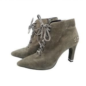 Aerosoles Suede Lace-up Booties 7M